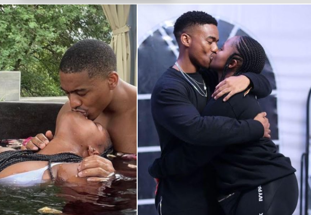 Photos: Rhythm City's Mzi Flaunts His Bae, Shows off Her Big B0oty As They Serve Couple Goals